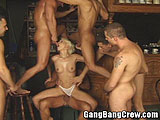 BDSM gang bang one woman