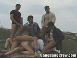 Gang Bang in Public Park