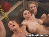 Three Girls Catching Cum